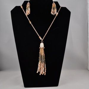 NWOT Beaded Necklace and Earring Set
